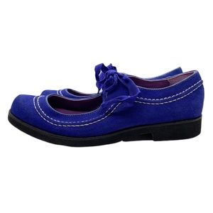 Anna Sui Shoes - ANNA SUI HUSH PUPPIES BLUE SUEDE TAP MARY JANE 9